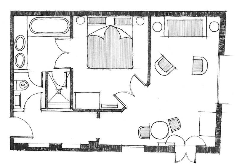 Courtyard Suite Indicative Layout
