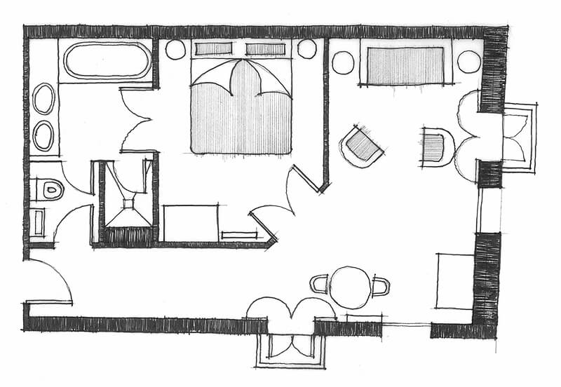 Deluxe Suite Indicative Layout